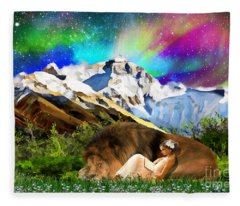 Content With The King Fleece Blanket