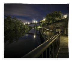 Conway Riverwalk Morning Fleece Blanket