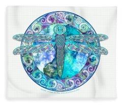 Cool Celtic Dragonfly Fleece Blanket