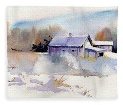 Cool Country Barn Fleece Blanket