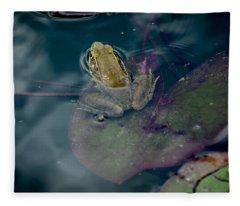 Cool Frog-hot Day Fleece Blanket