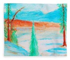 Cool Landscape Fleece Blanket