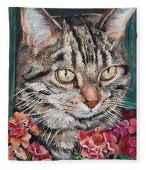 Cooper The Cat Fleece Blanket