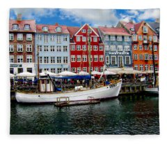 Copenhagen - Denmark Fleece Blanket