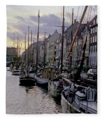 Copenhagen Quay Fleece Blanket