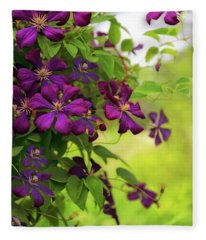 Copious Clematis Fleece Blanket