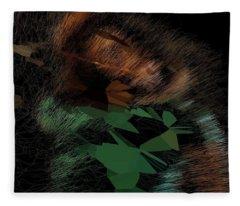 Copper Forest Guardian Fleece Blanket