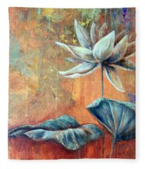 Copper Lotus Fleece Blanket