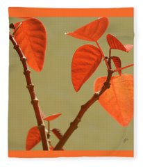 Copper Plant Fleece Blanket