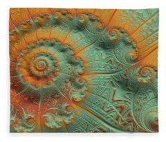 Copper Verdigris Fleece Blanket