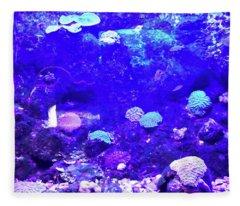 Coral Art 2 Fleece Blanket