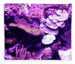 Coral Art 5 Fleece Blanket