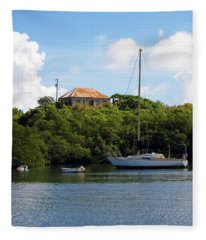 Coral Bay 1 Fleece Blanket