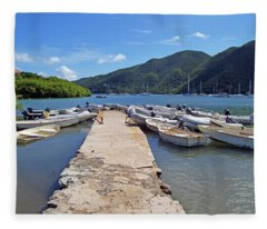 Coral Bay Dinghy Dock Fleece Blanket