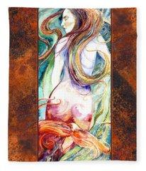 Coral Mermaid Fleece Blanket