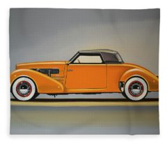 Cord 810 1937 Painting Fleece Blanket