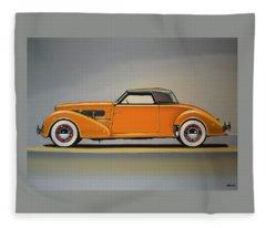 Cord 810 1937 Painting Fleece Blanket