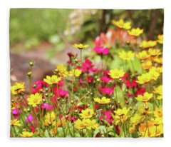 Coreopsis Garden Fleece Blanket