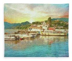 Corfu 30 My Passion Paintography Fleece Blanket