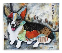 Corgi 2 Fleece Blanket