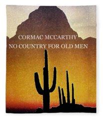Cormac Mccarthy Poster  Fleece Blanket