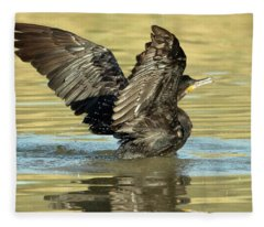 Double-crested Cormorant 3171-112217-1cr Fleece Blanket