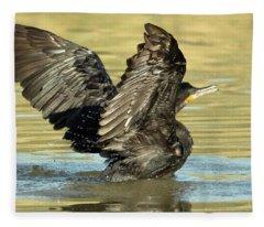Double-crested Cormorant 3171-112217-2cr Fleece Blanket