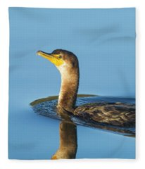 Cormorant Reflection Fleece Blanket