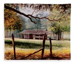 Corn Crib Fleece Blanket