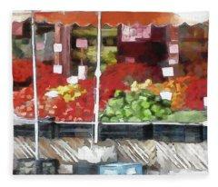 Corner Market Fleece Blanket