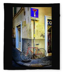Corner Zone Bicycle Fleece Blanket