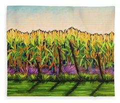 Cornfield Color Fleece Blanket