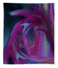 Cornflower Life Cycle Fleece Blanket