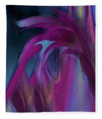 Cornflower Reflections Fleece Blanket