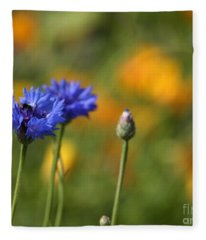 Cornflowers -2- Fleece Blanket