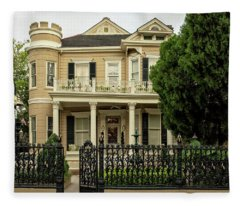 Cornstalk Fence Fleece Blanket