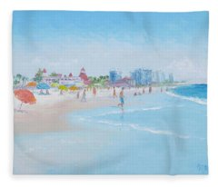 Coronado Beach San Diego Fleece Blanket