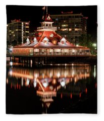 Coronado-blue Water Boathouse Restaurant Fleece Blanket