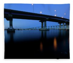 Coronado Bridge-blue Twilight Fleece Blanket