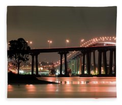 Coronado Bridge-poetic Connections Fleece Blanket