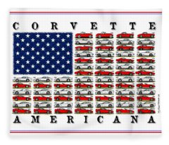Corvette Americana Fleece Blanket