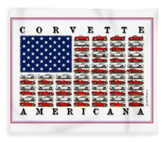 Corvette Americana Fleece Blanket