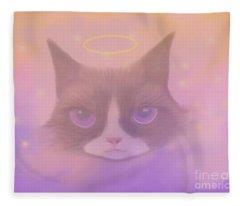 Cosmic Cat Fleece Blanket
