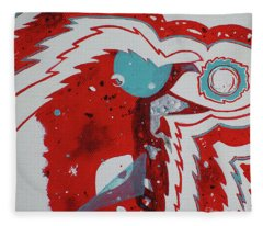Cosmic Corvid Fleece Blanket