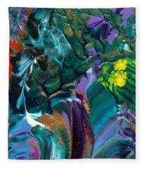 Cosmic Feathered Webbed Universe Fleece Blanket
