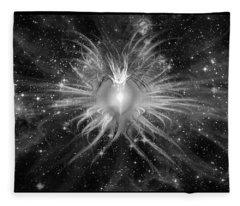 Cosmic Heart Of The Universe Bw Fleece Blanket