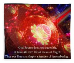 Cosmic Inspiration God Source 2 Fleece Blanket