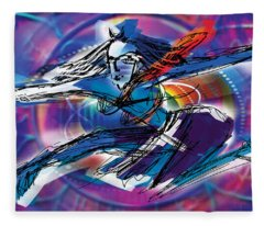 Cosmic Shiva Speed Fleece Blanket