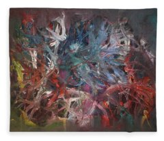 Fleece Blanket featuring the painting Cosmic Web by Michael Lucarelli