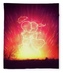 Cosmo And Celeste Colorful Cosmological Night Sky Couple In Love  Fleece Blanket